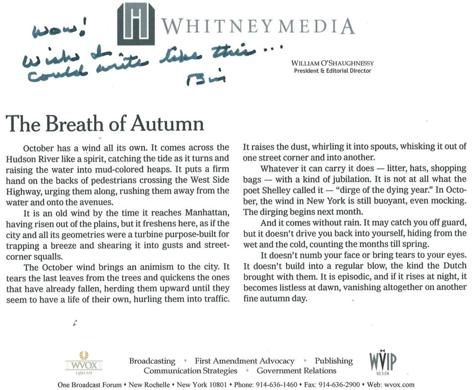 The Breath of Autumn